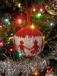 Knitting Christmas ball
