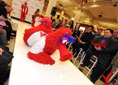 Phillies Fever: the Phanatic turns red during Paint The Town Red week, March 29-April 3, 2012.