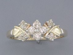 '0.20CT Genuine Diamond Pure 14K Gold Ring Size 7' is going up for auction at  3pm Tue, Oct 30 with a starting bid of $1.