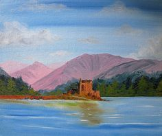 Scottish Highlands, Landscape Paintings, Scotland, Castle, Watercolor, Unique Jewelry, Handmade Gifts, Artist, Etsy