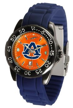 Auburn Unisex Fantom Sports Anachrome Watch with color coordinated silicone band
