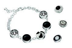 Kameleon sterling silver jewelry. Change the jewel pops to change the look of your jewelry.