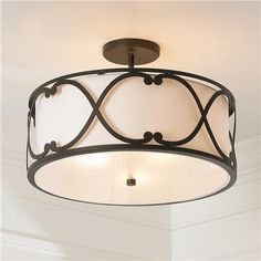 Springfield Drum Shade Semi Flush Ceiling Light Ceiling