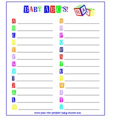 free baby shower party games