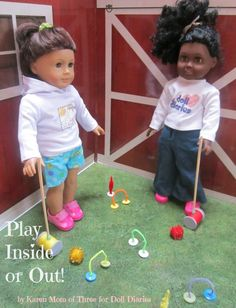 Let's Play Croquet! Make Your Own Doll Sized Play Set! — Doll Diaries