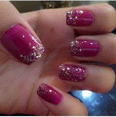 Purple pink glitter
