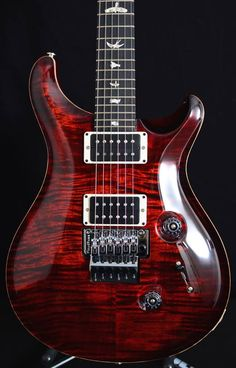 #PRS Floyd Custom 24 with a Fire Red burst.