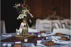 Kylene & Justin's Snohomish Farm Wedding – Twelve Baskets Catering – Seattle Catering Voted By Seattle Magazine Farm Wedding, Wedding Blog, Wedding Day, Wedding Reception, Washi, Simple Centerpieces, Purple Centerpiece, Reception Table, Reception Ideas