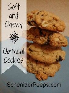 SchneiderPeeps - Soft Oatmeal Cookies are hard to come by, but this recipe has a little trick that will give you soft, chewy oatmeal cookies every time.