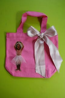 Homemade Personalized Ballet Shoe Bag