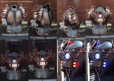 This it the completed Explorer's Gauntlet. The vacuum tube design match my Ocular Enhancers (goggles) as a matching set. I used a mix of copper and brass plating throughout. The sides of the gauntl...
