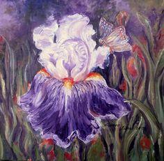 IRIS 2015 Iris, Oil On Canvas, Painting, Irises, Painted Canvas, Painting Art, Paintings, Oil Paintings