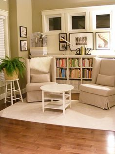 chair, reading corners, bookcases, living rooms, window