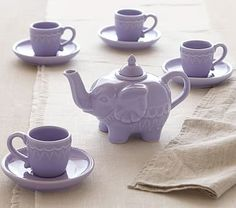Elephant Tea Set - This may be on the Pottery Barn kids website, but I want it for me!