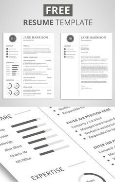 free resume template and cover letter - Cover Letter To A Resume