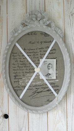 Ancien cadre ovale  noeud péle-mèle.