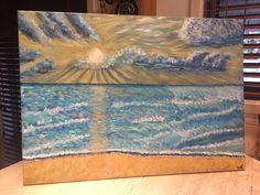Sunset Ocean Ocean, Paintings, Sunset, Rugs, Home Decor, Farmhouse Rugs, Decoration Home, Paint, Room Decor