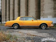 '78 Monte Carlo, mine was a bleached yellow but I LOVED IT!