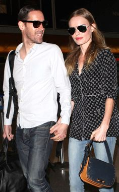 1f8ac64099 Kate Bosworth and her fiancé Michael Polish keep their shades close and  each other closer while