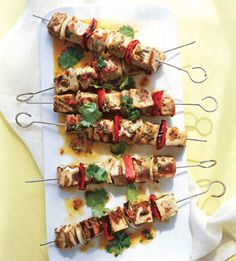 Tuna Kebabs with Ginger-Chile Marinade... Why you'll make it: Because ...