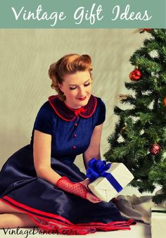 Women's new vintage gift ideas. Clothing, books, patterns, decor and more. VintageDancer.com