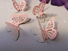 ❤ 3D Paper Butterflies Classic Alice Pack of 12 Handmade table decorations