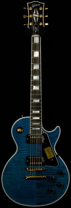 Benchmark Limited Run Gibson Les Paul Custom Gretsch, Epiphone, Guitar Pics, Guitar Amp, Cool Guitar, Gibson Les Paul, Blue Electric Guitar, Electric Guitars, Gibson Guitars