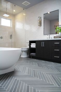 ann sacks luxor grey bathroom tile - Google Search