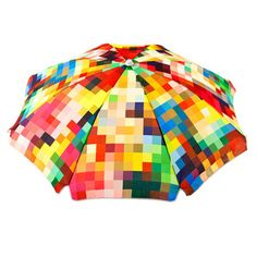 Nothing to brighten up a rainy day like a colorful pixel umbrella. Unfortunately at $220 it will not be brightening my day anytime soon...