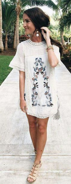Check out this cute bohemian dress
