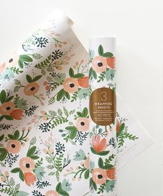 Wildflower Wrapping Roll - Set of Three from Rifle at Zulily today for only $7.99 -- I might have purchased a slew of this!!!