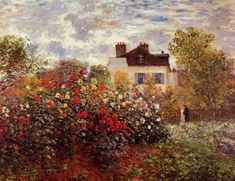 Claude Monet - Monet's Garden in Argenteuil Sun
