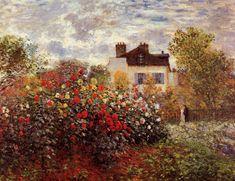"Claude Monet    ""Monet's garden in Argenteuil Sun"""