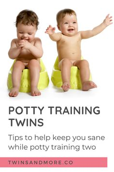 Getting ready for Potty Training Your Twins? Read this First.  Potty training is one of those last major toddler milestones that you have to go through.   Discover the lessons I learned potty training my own twins. I talk about the funny but often stressful phase of potty training twins and how to maintain your sanity.  #twinsandmore #pottytrainingtwins #twinmomlife Newborn Twins, Twin Babies, Toilet Training, Potty Training, Toddler Milestones, Expecting Twins, Twin Toddlers, Twin Tips, Sibling Rivalry