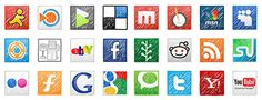 Awesome Beautiful Cute Social Media Icons Set #icons #social #media #cute #beautiful