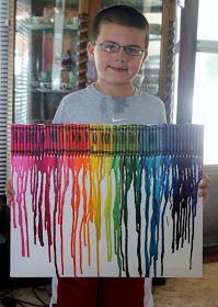 Kassidys 4-H project--Color Splashed Farme Art | Craft Ideas ...
