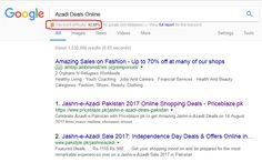 Keyword:  Azadi Deals Online with 48.20% difficulty plus high search volume that is optimized for @PriceBlaze.pk and get ranked on Google.com.pk in Top 5.