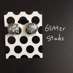 Silver Glitter Studs New, never worn. Gold hardware. No trades⭐️price firm Jewelry Earrings