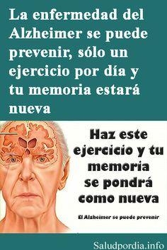 El Alzheimer es una de las enfermedades degenerativas más comunes alrededor del mundo, por lo general afecta a las personas muy mayores, sin embargo, se han presentado casos de sujetos de entre 35 y 40 años que padecen la enfermedad. #Alzheimer #enfermedades