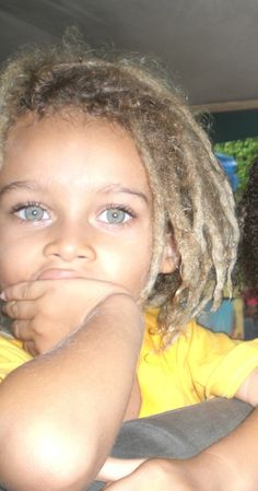 green-eyed blond… with dreads :)
