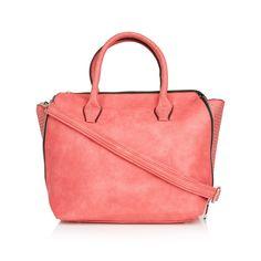 Handbag with Small Studs Red