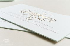 Sincerely, Jackie 's gold engraved business cards