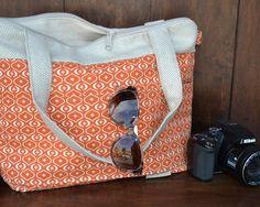 Camera Bag in sweet potato pie print, Camera Bag Purse Womens Digital Camera Bag Case Padded / by Darby Mack via Etsy