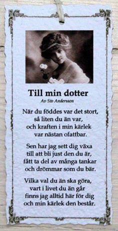 Till min dotter - Diktkort Födelsedag Önskemål 464a233c56167