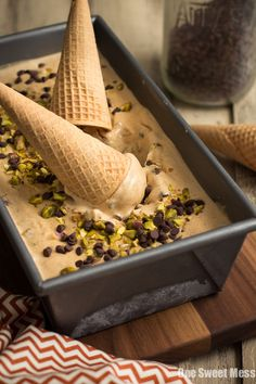 Lavender Dark Chocolate Chip Ice Cream | Dark Chocolate Chips ...