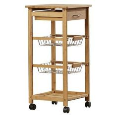 Rolling Kitchen Cart Cutting Table Mobile Island Steel Wire Shelf .