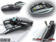 Audi A1 e-tron Concept - Design Sketches, 2010