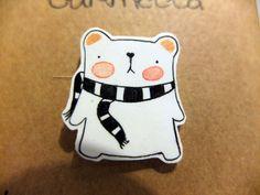 Even if I am a White Polar Bear I Love Scarves. $17.00, via Etsy.