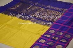 silk cotton saree with silk border ..  shop now at www.parijatstore.com Silk Cotton Sarees, Shopping