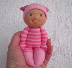 Waldorf Doll,  Waldorf pocket doll, Sock  doll,  Baby doll,  Toddler doll , Cloth doll, Handmade by WaldorfDollsByIren on Etsy